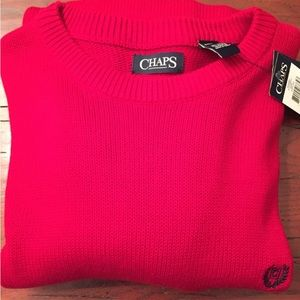 NWT Chaps red sweater sz 2 extra large tall